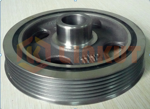 Automobile damping pulley turning with CBN inserts.png