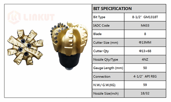 The PCD Cutter Inserts Application In High-end Matrix Bit